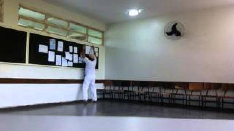 Capoeira Meia Lua: Oficina no CEF 08. Sobradinho II, Distrito Federal, Brasil. 14mai15. 12
