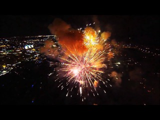 Fireworks filmed with a drone (Tiesto - Footprints)