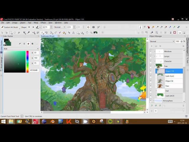 Fairy Treehouse by Tomasz Mroziński (CorelDRAW Contest - Speed Drawing Video)