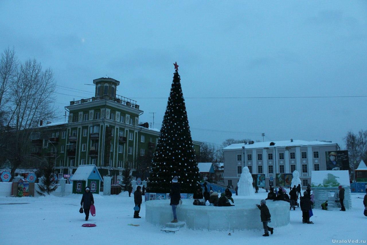 Ледовый городок Полевского