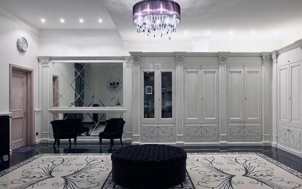 Гардеробная комната в классическом стиле