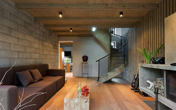 лесница интерьер гостиной
