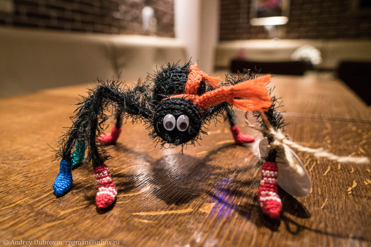 паук вязаный
