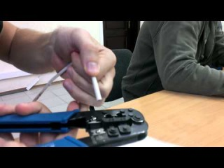 Как обжать сетевой кабель - RJ 45 - Витая Пара