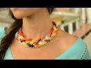 Como hacer un collar tejido con cadena JPaola