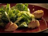 Как быстро и легко сделать жареные гребешки с хрустящим яблочным салатом