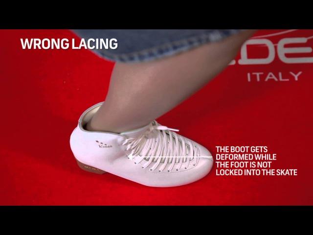 Correct lacing on Edea skating boot