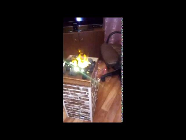 2Пламя из пара огонь самодельный камин своими руками декоративный искусственный огонь fake flame