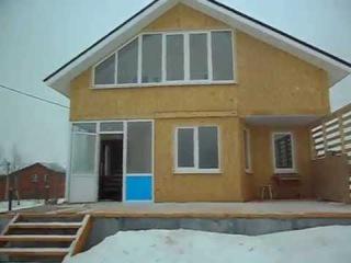 Загородный дом с баней (два в одном), отделка дома. Каркасная технология .