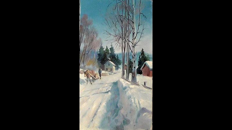 Зимний пейзаж Видео урок масляной живописи