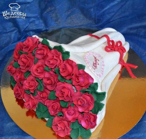 Торты в виде букетов цветов фото
