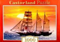 Puzzle-1000. с-100392. парусник на закате, Castorland