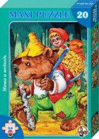 """Пазл-макси """"маша и медведь"""", 20 элементов, Десятое королевство"""