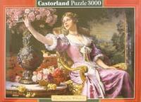 Puzzle-3000. с-300020. женщина с цветами, Castorland