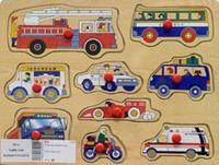 """D21a вкладыш """"машинки"""", VGA (Wooden Toys)"""