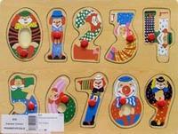 """Рамка """"цифры"""". арт. d26, VGA (Wooden Toys)"""