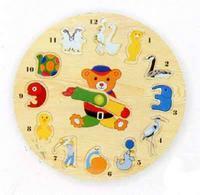 """Рамка """"часы-звери"""". арт. d29a, VGA (Wooden Toys)"""