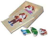 """Сборная деревянная рамка-вкладыш """"собаки"""", VGA (Wooden Toys)"""