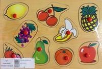 "D65 вкладыш ""фрукты"", VGA (Wooden Toys)"