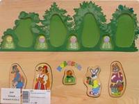 "D109 вкладыш ""колобок в лесу"", VGA (Wooden Toys)"