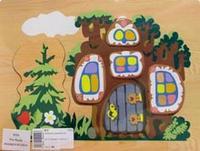 "Рамка-вкладыш ""дерево-теремок 1"", VGA (Wooden Toys)"