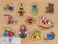 "D111 кладыш ""игрушки"", VGA (Wooden Toys)"