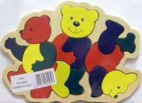 "D136 вкладыш ""медведи"", VGA (Wooden Toys)"