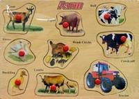 "D146 пазл ""animals (животные)"", VGA (Wooden Toys)"