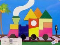 """Вкладыш """"паровоз"""", VGA (Wooden Toys)"""
