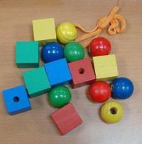 Бусы геометрические цветные (ш-042), RN Toys