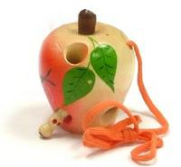Яблоко-шнуровка лакированное расписное (ш-053), RN Toys