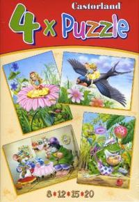 Puzzle-8*12*15*20. в-04034. дюймовочка (4 в 1), Castorland