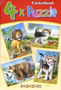 Puzzle. в-04041. звери (4 в 1), Castorland