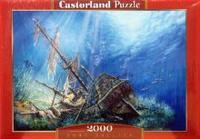 Puzzle-2000. с-200252. затонувший корабль, Castorland