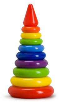 """Пирамида """"радуга"""", 29 см, Рославльская игрушка"""