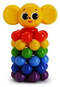 """Пирамида с шариками """"ушастик"""" (18 см), Рославльская игрушка"""
