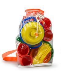 """Набор детской посуды """"настенька"""", в рюкзаке, Рославльская игрушка"""