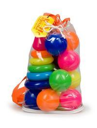 """Набор """"радуга"""" (пирамида+мячики), в рюкзаке, Рославльская игрушка"""