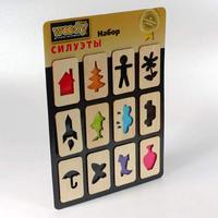 """Набор """"силуэты"""", 12 деревянных элементов, Вуди (Woody)"""