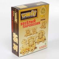 """Набор """"веселый паровозик"""", 5 деревянных элементов, Вуди (Woody)"""
