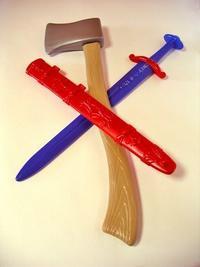 Оружие викинга (топор+меч), Строим вместе счастливое детство