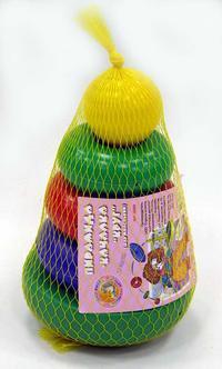 """Пирамида-качалка """"круг"""" (с шариком, малая), Строим вместе счастливое детство"""
