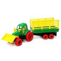 Трактор с грейдером и прицепом, Нордпласт