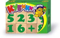 "Кубики ""цифры"" (12 штук), Томик"