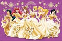 """Пазл """"принцессы в золотом"""", 24 детали макси, Trefl"""