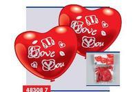 """5 фигурных шариков-сердец """"я люблю тебя"""", Everts"""