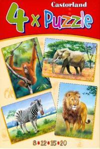 Puzzle в-04072. дикие животные (4 в 1), Castorland