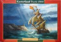 Puzzle-1500. с-150427. парусник, Castorland