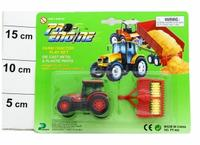 Машина металлическая. трактор с прицепом, Pioneer Toys