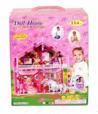 Дом для куклы, 114 деталей. арт. 2106, Shenzhen Jingyitian Trade Co., Ltd.